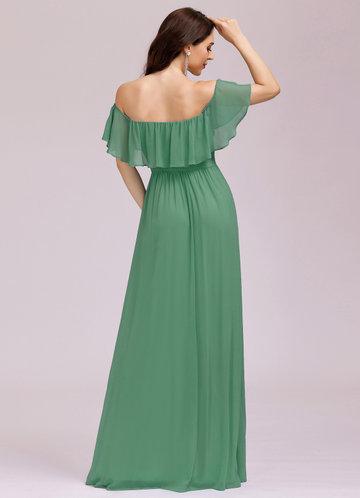 back_EVER-PRETTY Ruffle Off Shoulder Split Dress