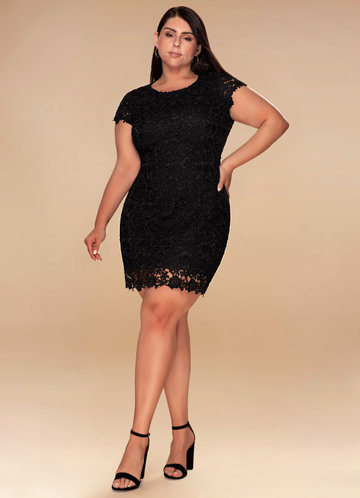 Spoil Me Backless Black Lace Dress