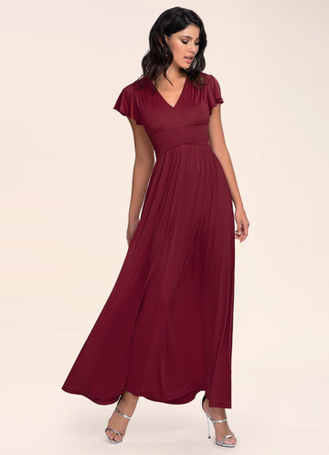 Essence Of Style Burgundy Maxi Dress