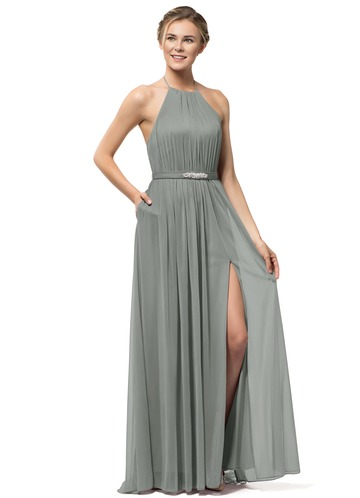Steel Grey Bridesmaid Dresses Azazie