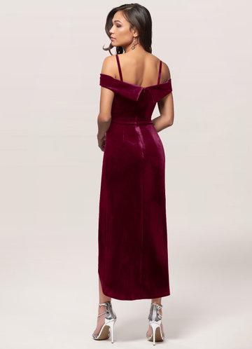back_Blush Mark Sweet Desire {Color} Velvet Midi Dress