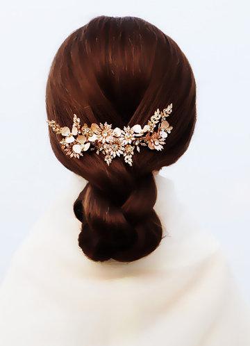back_Vintage Wild Flower Comb