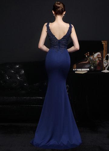 back_Kalinnu Lace Satin Mermaid Maxi Dress