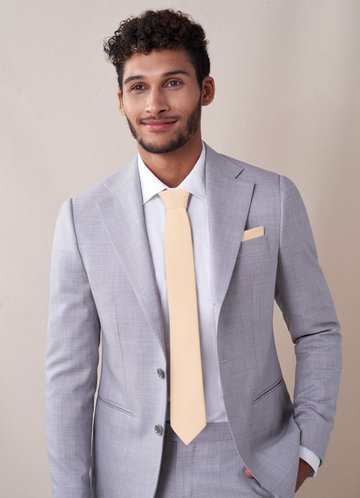 front_Gentlemen's Collection Matte Satin Skinny Tie