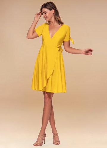 front_Coffee Break {Color} Wrap Dress
