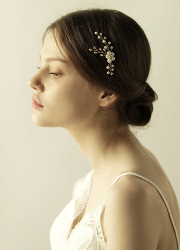 back_Freshwater Pearl and Floral Headpieces