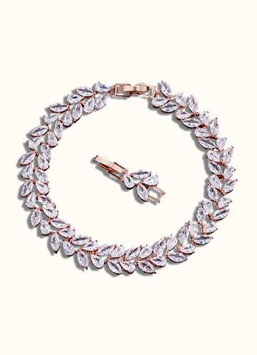 back_Rose Gold Laurel Leaf Bracelet