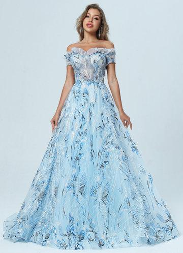 front_AZ Skies of Blue Prom Dress