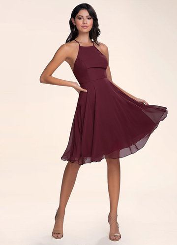 Effortless Beauty Cabernet Midi Dress