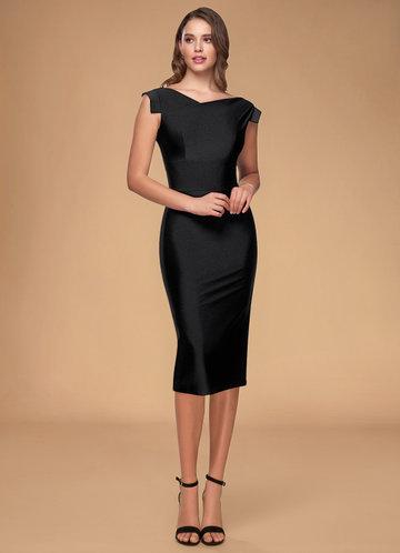 Good Day Black Midi Dress