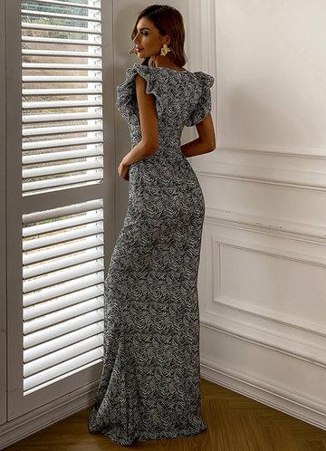 back_Missord Allover Print Ruffle Sleeve Dress