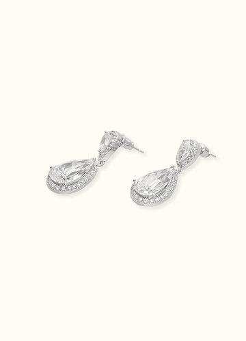 back_Stunning Silver Teardrop Earrings
