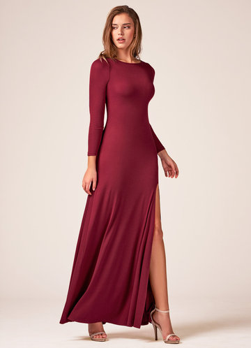 Only You Burgundy Maxi Dress