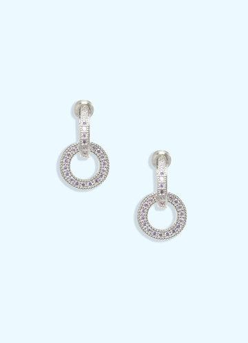 back_Double Circle Rhinestone Earrings