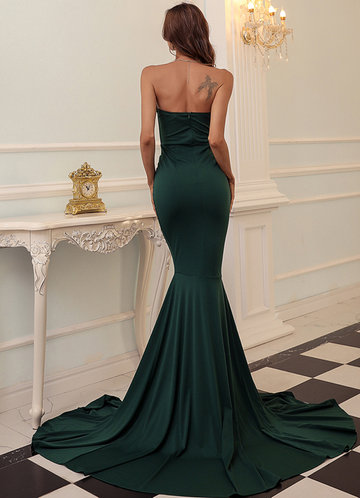 back_Missord Zip Back Split Thigh Tube Prom Dress