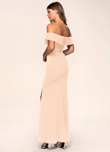 back_Blush Mark My Valentine {Color} Stretch Crepe Maxi Dress