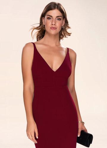 Caroline Plum Purple Sleeveless Maxi Dress