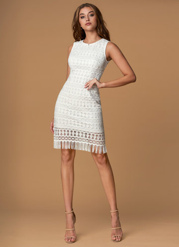 Summer Lovin White Corchet Lace Midi Dress