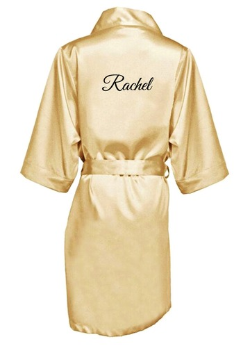 Azazie Personalized Embroidered Satin Robe