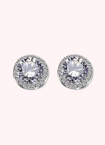 front_Solitair Crystal Studs