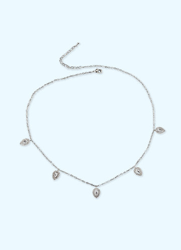 back_Charming Crystal Pendant Necklace