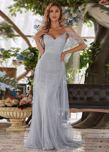 front_AZ Off Shoulder Mesh Prom Dress