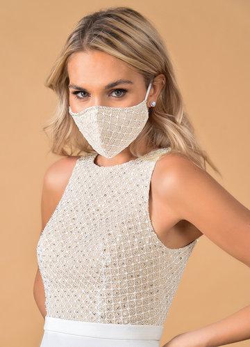 front_Azazie Non-Medical Alencon Lace Reusable Face Mask