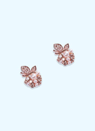 front_Pearl and Rose Gold Earrings