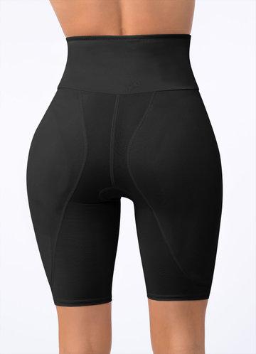 back_High Waisted Hip Enhancer Padded Shapewear Shorts