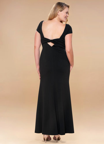 front_Blush Mark Plus Size Pure Beauty  Stretch Crepe Maxi Dress