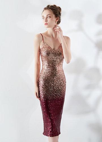 front_Kalinnu Gradual Color Sequin Midi Dress