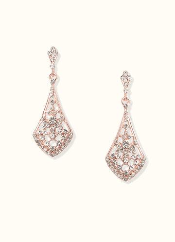 front_Charming Rhinestone Drop Earrings