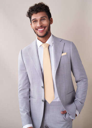 front_Gentlemen's Collection Matte Satin Wide Tie