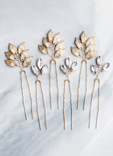 back_Dainty Leaf Hairpins Set
