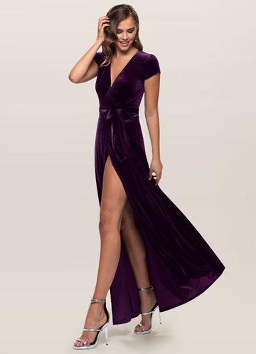 front_Blush Mark Dreaming Of You {Color} Velvet Maxi Dress