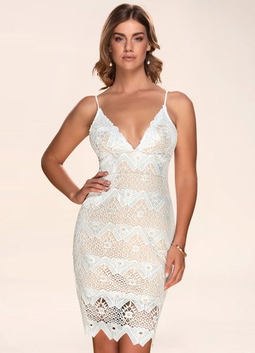 Counting Stars Crochet White Lace Dress