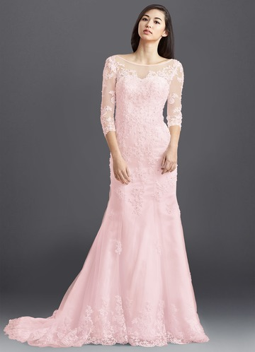 9ab51534b549 Blushing Pink Wedding Dresses - Bridal Gowns