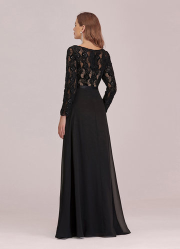 back_EVER-PRETTY Lace Bodice Chiffon Maxi Dress