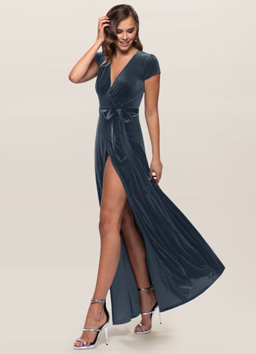 Dreaming Of You French Blue Velvet Maxi Dress