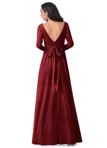 back_Azazie Brynn Velvet Dress
