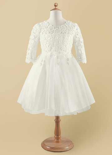 front_Azazie lindsay Flower Girl Dress