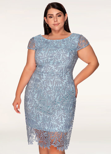 Heavenly Kiss Periwinkle Blue Lace Bodycon Dress