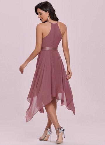 back_EVER-PRETTY Flowy Halter Neck Asymmetrical Midi Dress
