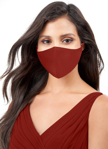 front_Azazie Non-Medical Matte Satin Reusable Face Mask With Adjustable Loop