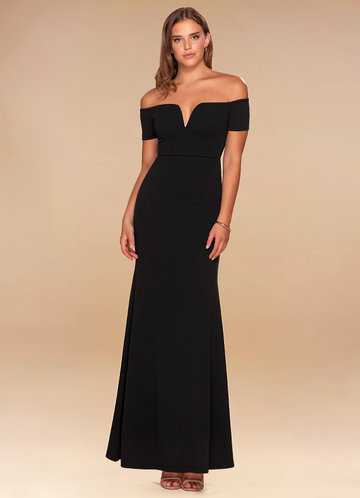 back_Blush Mark Kendall {Color} Off-The-Shoulder Maxi Dress