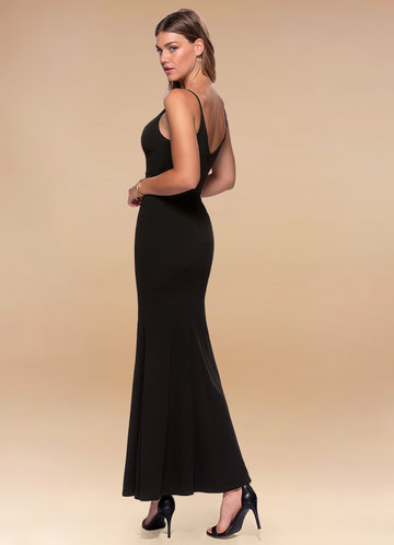 back_Blush Mark Day to Night {Color} Stretch Crepe Maxi Dress
