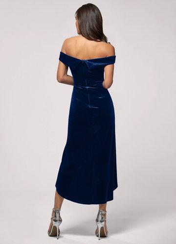 back_Sweet Desire {Color} Velvet Midi Dress