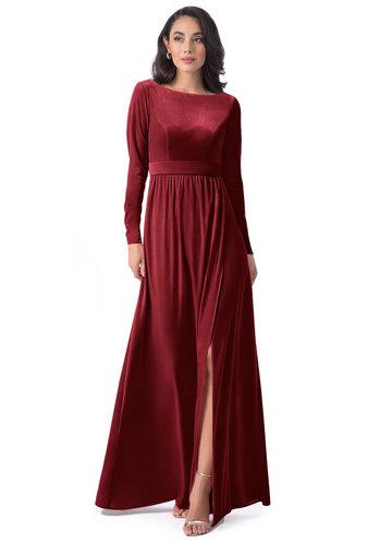 front_Azazie Brynn Velvet Dress