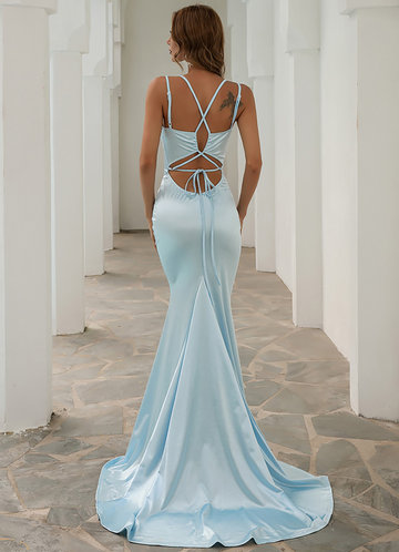 back_AZ Elegant Slip Satin Prom Dress