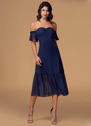 Capture The Moonlight Navy Blue Maxi Dress
